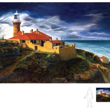 Birth of a Lighthouse Painting